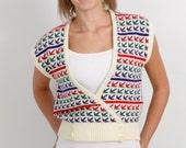 Vintage Wrap Sweater Vest