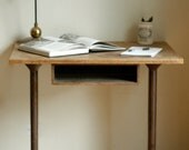 Vintage Wood Metal Industrial Desk