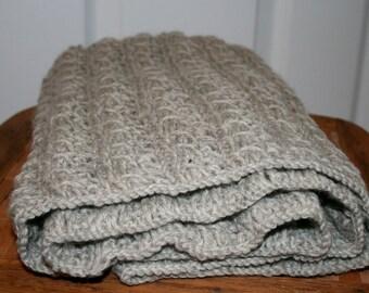 Infinity Scarf - Oatmeal 100%Wool