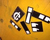 Metal Symbols Signs Vintage