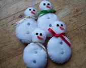 Felt Snowman Christmas tree decorations