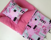 """Last One. Ships Today.  Doll Sleeping Bag """"SPRING BUTTERFLY""""- Fits 18 Inch Doll  American Girl."""
