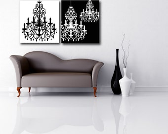 Chandelier Classic Black and White