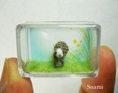 Micro Grey Squirrel - Tiny Crochet Miniature Animals - Made To Order