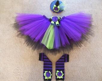 Little Witch tutu set custom made sizes Newborn-4t