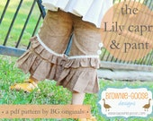 BG Originals The Lily Ruffler pdf pattern (pants or capri)