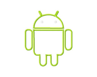 Android mascot, machine embroidery, applique