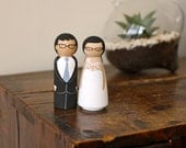 FULLY Customizable Wedding Cake Toppers: Perfect for all brides and grooms.