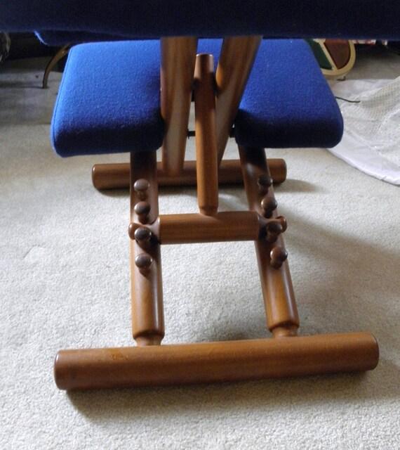Vintage Kneeling Chair Ergonomic Chair Teak Wood Balans