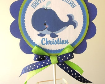 Whale of a Time Collection: Smash Cake Topper