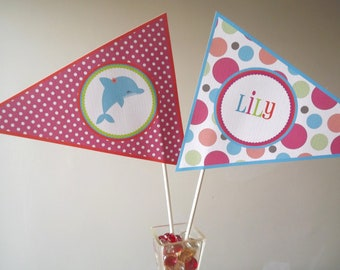 BRIGHT Dolphin Collection: Flag Centerpieces