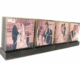 WEDDING PICTURE FRAMES- Gifts To Spell Out Love-Great Wedding Gifts-Anniversary Gifts - Custom Photo Displays-