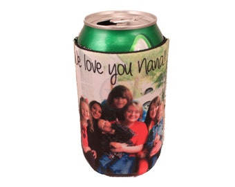 PERSONALIZED Insulators- Soft Drink-BEEr Insulators-Bridesmaids Gift-Wedding Gifts-Groomsmen Gifts-Great Christmas Gifts
