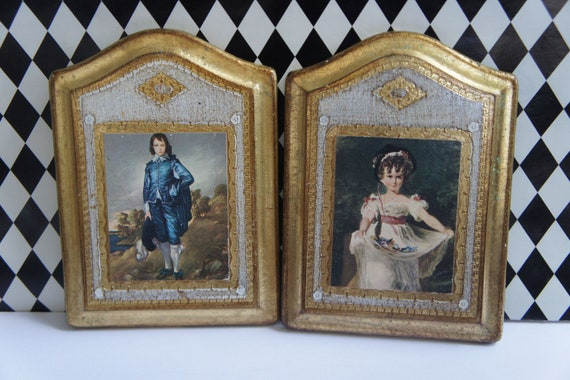 Beautiful French Wood Plaques - Set of 2