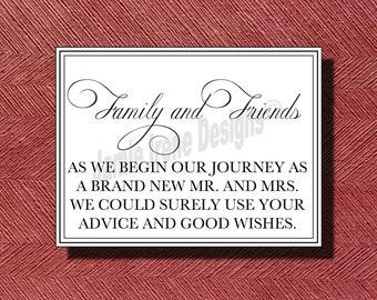 Custom Designed Wedding Guest Book Sign DIY Print ready