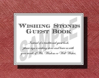 Wedding Wishing Stone Guest Book Sign