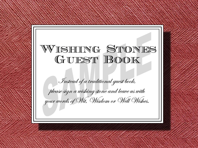 Wedding Wishing Stone Guest Book Sign Wishing Stones