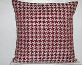 Custom Order for Chelsea Red White Pillow Covers Red White Houndstooth Jaquard