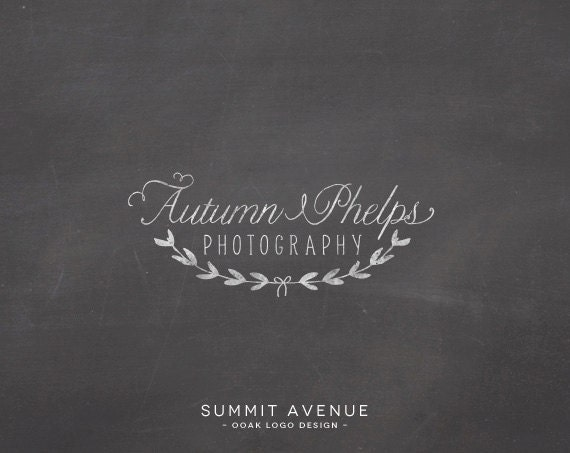 Custom PreDesigned OOAK vintage wreath Logo design for Boutique or Photography by summit avenue