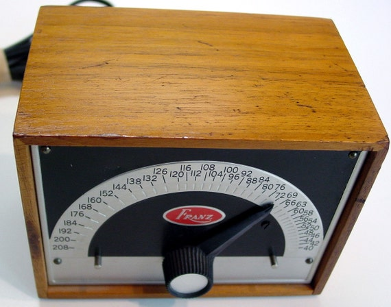 REDUCED - Vintage 1950s Franz Electronic Metronome Looks Great Works Great