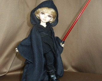 "Black Boy's Elf / Jedi / Sith / Mage Outfit for LittleFee / Yo-SD /10"" BJD"
