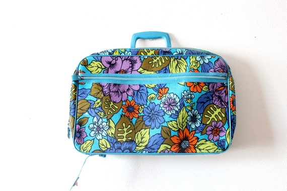 Vintage flower retro luggage bag
