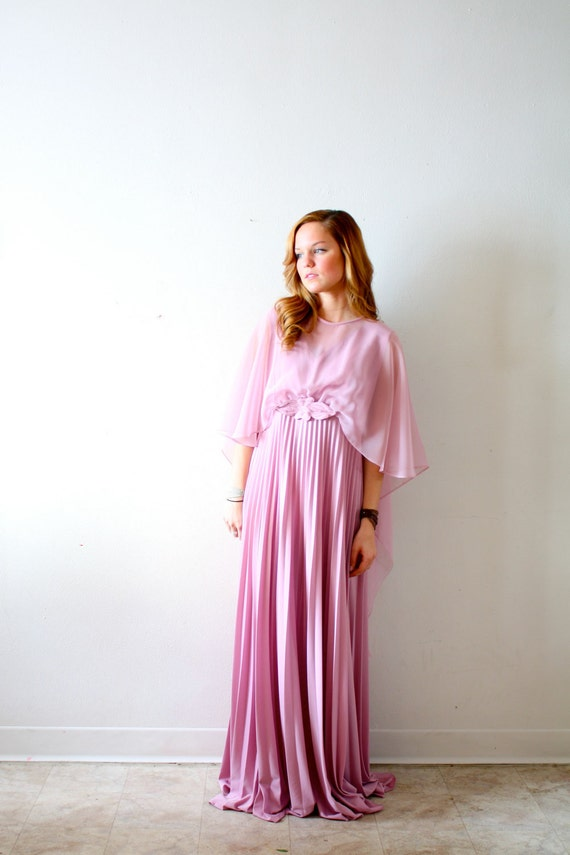 50% OFF Vintage pink gown dress