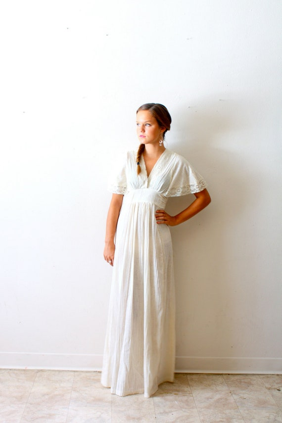 Vintage Wedding Dress shabby chic lace hippie bohemian