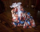 Reusable Christmas Fabric Gift Bags