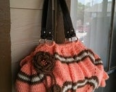 INSTANT DOWNLOAD Peach Crochet Tote Bag Look Like Clutch Pattern