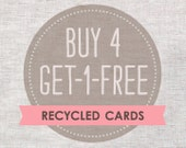 Eco Friendly Cards - 5 for the price of 4 - Mothers Day Cards, Christmas, Birthday, Hello, Anniversary, More...