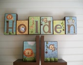 Childrens Bookends . Nursery Decor. Bookends