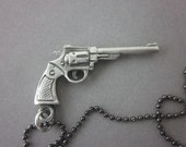 """44 Magnum """"Dirty Harry"""" Style Revolver Necklace"""