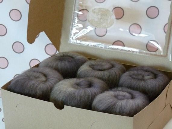 Spinning Fiber Batts - Cupcake Fiber SW BFL/Nylon Sock Fiber Batts - 6 ounces  - Walnut