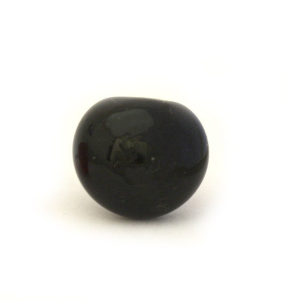 black glass classic Lampwork bear nose SMALL
