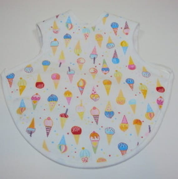 Personalized I Love Ice Cream Bapron - Baby Apron with FREE EMBROIDERY