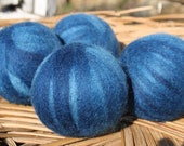 Wool Dryer Balls - Peacock Blue  - Set of Four