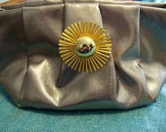 Vera Wang Upcycled Handbag Bronze Gold Brooch Everyday Holiday Special Occasion Gift MHYO Designer Purse No.44