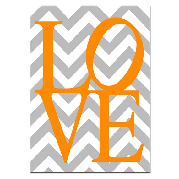 Orange Chevron Wallpaper