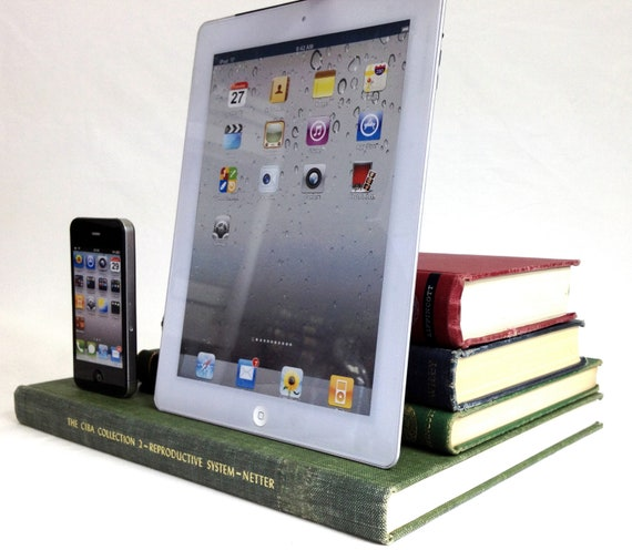 Custom Reserved for Calvin - 3 booksi docks - dual dock for iPhone and iPad