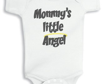 Mommy little angel personalized baby bodysuit or infant T-Shirt