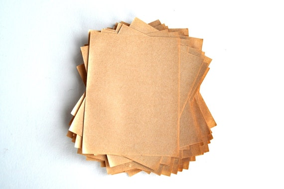 40 Brown Paper Sheets Scrapbooking Collage Supplies