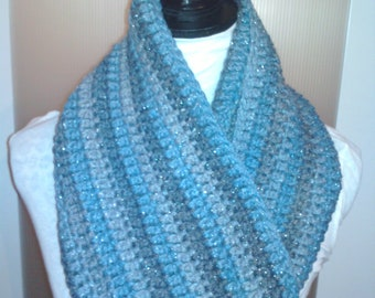 Sparkle Crochet 3-in-1 scarf