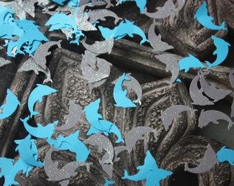 200 Dolphin Confetti/Nautical/Die Cut/Cutout/Paper Punch/Birthday/Scrapbooking