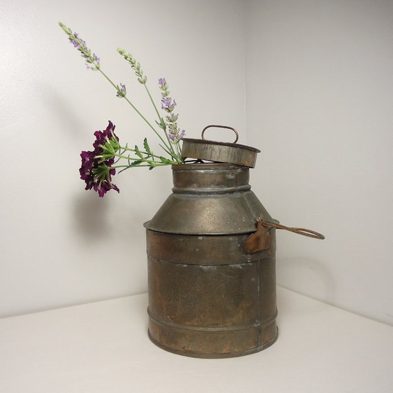 Vintage Cream or Milk Can with Lid and Handle