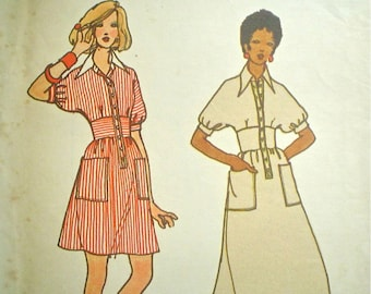 Butterick Maxi Dress Pattern 1970s Young Designer Summer Dress Pattern with Pockets -- Butterick 3104 Bust 32.5