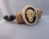 Gasparilla Skull Cameo Wine Cork Bracelet