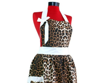 Popular items for leopard apron on Etsy