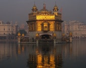 The Golden Temple At Dusk Amritsar Punjab India 8X10 Photograph