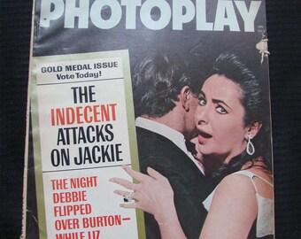 Vintage Photoplay Magazine January 1965 - Liz Taylor Cover